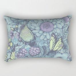 Beauty (eye of the beholder) - aqua version Rectangular Pillow