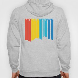 Retro 1970's Style Morgantown West Virginia Skyline Hoody