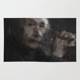 Albert Einstein, a String Art Portrait Rug