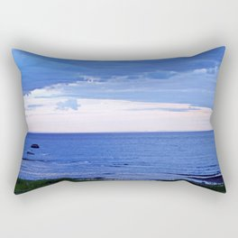 Blue on Blue at the River Mouth Rectangular Pillow