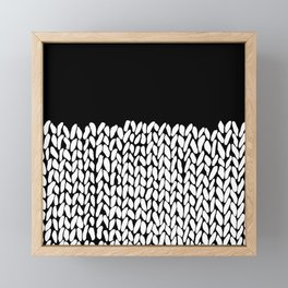 Half Knit  Black Framed Mini Art Print