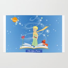 The Little Prince in the Fairy Tale Book Rug