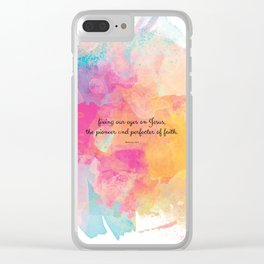 Perfecter of Faith, Scripture Tote Bag Clear iPhone Case