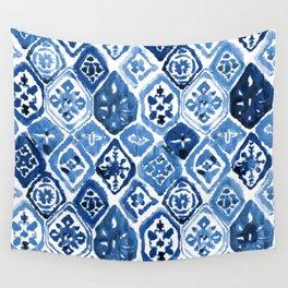 Arabesque tile art Wall Tapestry