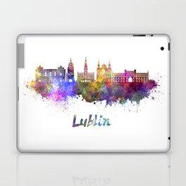 Lublin skyline in watercolor Laptop & iPad Skin