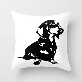 Dachshund Doxie Daxie Wiener  Dog Breed  Throw Pillow