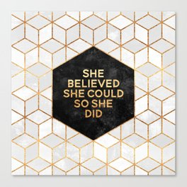 She believed she could so she did 2 Canvas Print