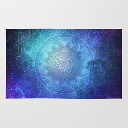 Abstract Flower of life Deep Space Rug