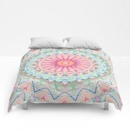 Mandala pastel no. 5 Comforters