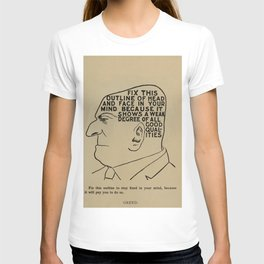 Vintage Art Print - Phrenology Diagram from Vaught's Practical Character Reader (1902) T-shirt