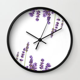Purple Lavender #2 #decor #art #society6 Wall Clock