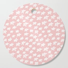 Stars on pink background Cutting Board