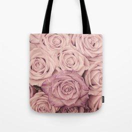 Some People Grumble - Pink Rose Pattern - Roses Tote Bag