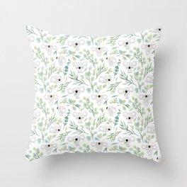 Koala and Eucalyptus Pattern Throw Pillow