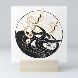 Medusa's Snakes Inktober :: Darlings, Don't Fear Me Mini Art Print