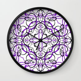 VIOLET SACRED GEOMETRY Wall Clock