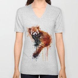 Red Panda Unisex V-Neck