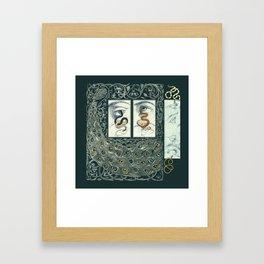 Snake Eyes :: Fine Art Collage Framed Art Print