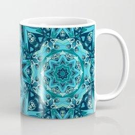 Blue mandala. Ethnic design Coffee Mug