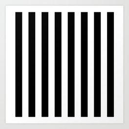 Classic Black and White Football / Soccer Referee Stripes Art Print