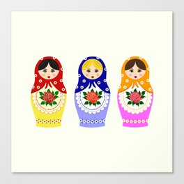 Russian matryoshka nesting dolls Canvas Print
