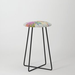 dp059-1 Watercolor flowers Counter Stool