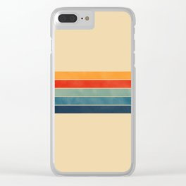 retro stripes Clear iPhone Case