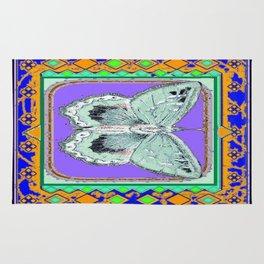 Southwestern Styalized Moth Art Design  Rug