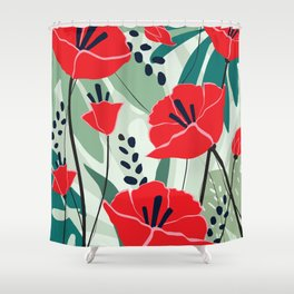 poppy seed Shower Curtain