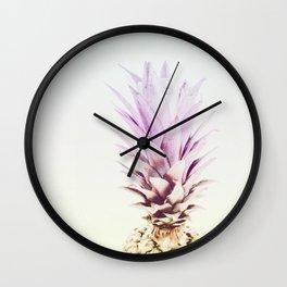 PASTEL PINEAPPLE no2 Wall Clock