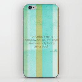 Carpe Diem Serie - Mother Teresa #inspirational iPhone Skin