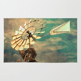 Rustic Windmill against Cloudy Sky A520 Rug