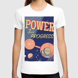 Power For Progress 1955 atomic power print. T-shirt