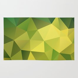 Abstract of triangles polygon in green yellow lime colors Rug