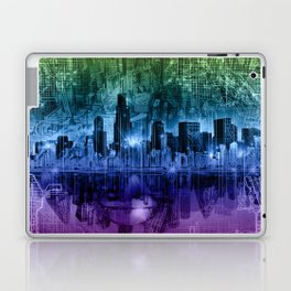 chicago city skyline Laptop & iPad Skin