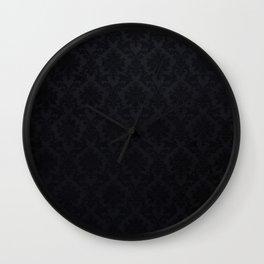 Black damask - Elegant and luxury design Wall Clock