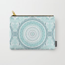 Mandala Pattern Light Blue Teal Aqua Pastels Carry-All Pouch