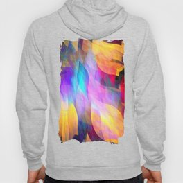 Colourful abstract with leaf shapes Hoody