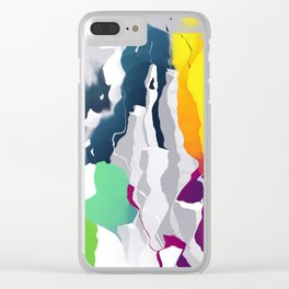 Who squashed the skyline Clear iPhone Case