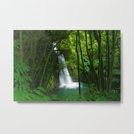 Waterfall in the Azores Metal Print