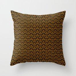 Golden Scales Throw Pillow