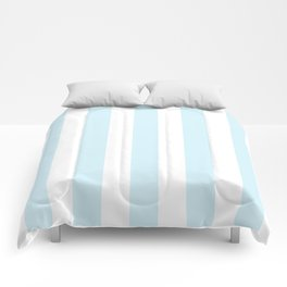 Water heavenly - solid color - white vertical lines pattern Comforters