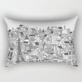 Paris (black and white version) Rectangular Pillow