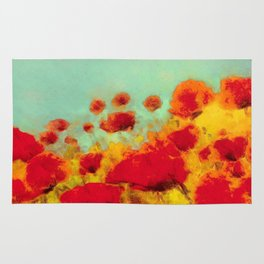 FLOWERS - Poppy time Rug