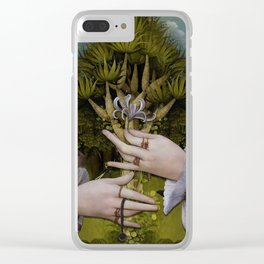 """The hands of Bosch and the Spring"" Clear iPhone Case"