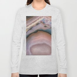 Pink and Blue agate 0425 Long Sleeve T-shirt