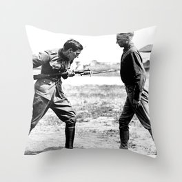 Bayonet Fighting Instruction Throw Pillow