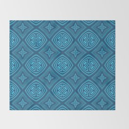 Ultra HD Blue Contemporary Magick Pattern Throw Blanket
