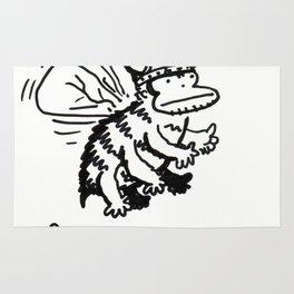 Vanguard of the Viking Ape-Bee Raiding Party Rug