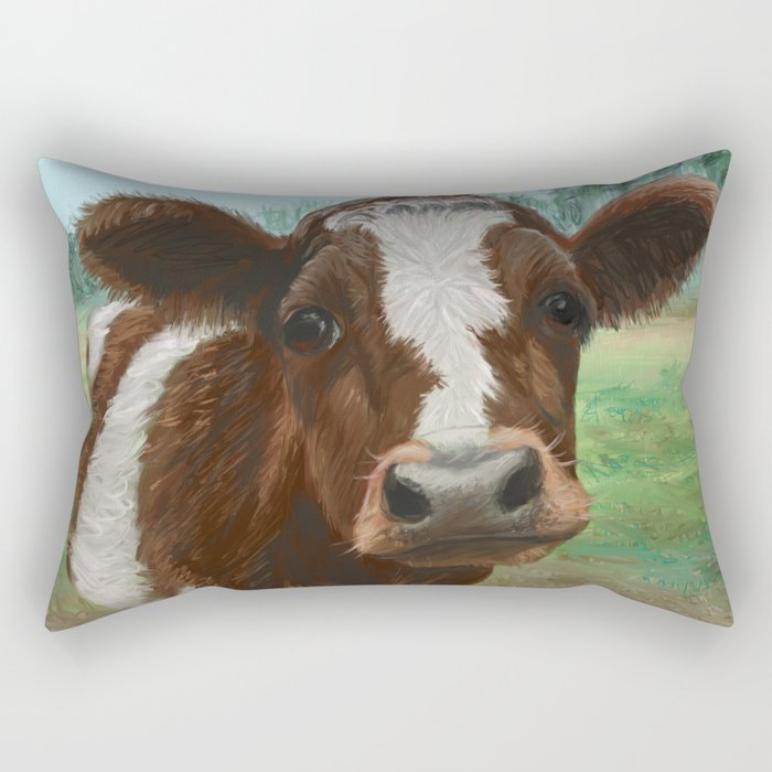 How Now Brown Cow Rectangular Pillow